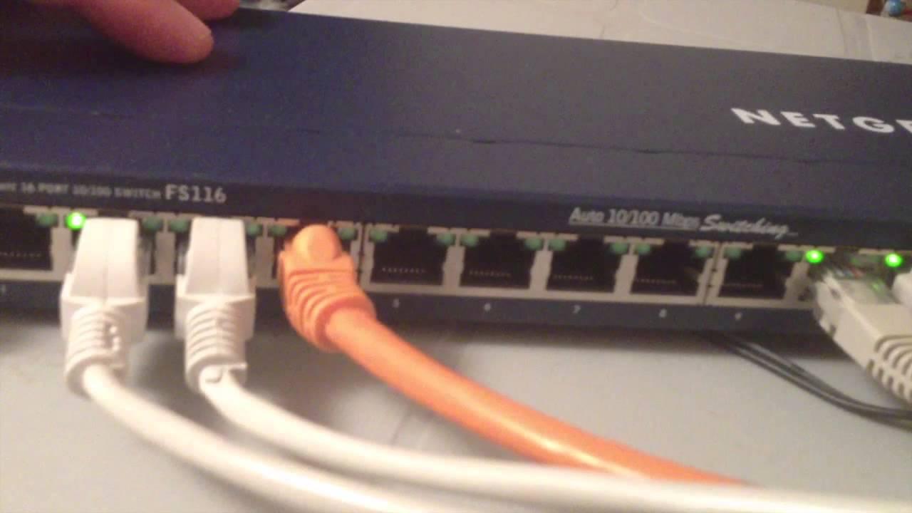 Netgear switch hookup