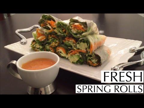 HEALTHY & DELICIOUS RECIPE ~ Fresh Spring Rolls