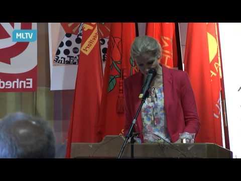 Helle Thorning Schmidt på Lillebæltsværftet 1. maj 2013