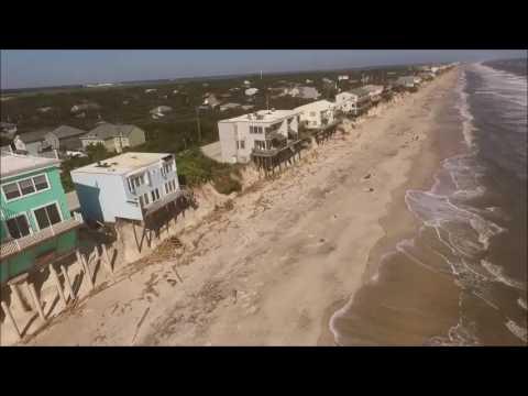 Drone Video Shows Extreme Erosion of Florida's Vilano Beach