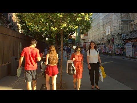 🇪🇸 MADRID WALK From San Bernardo Metro To Bilbao Metro To Tribunal Metro   Spain