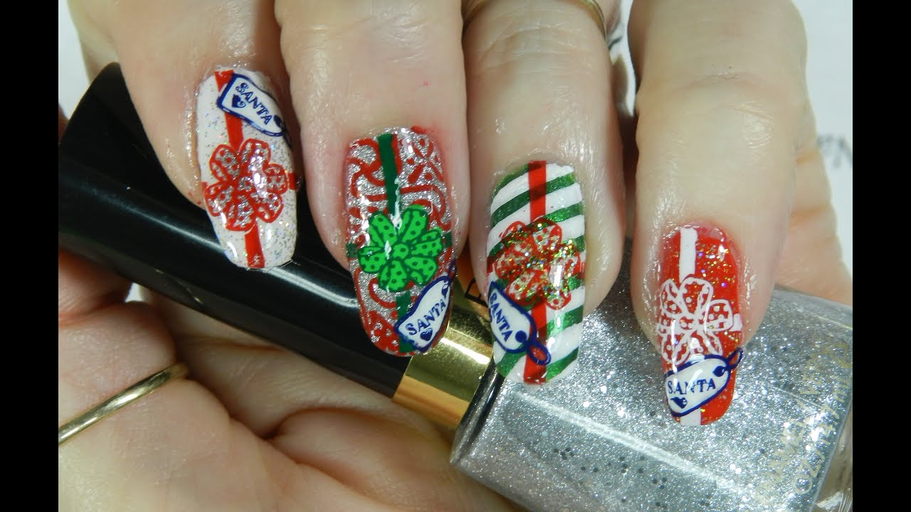 Nail Art Design Christmas Presents Day 12 #itsmychristmasnails w ...