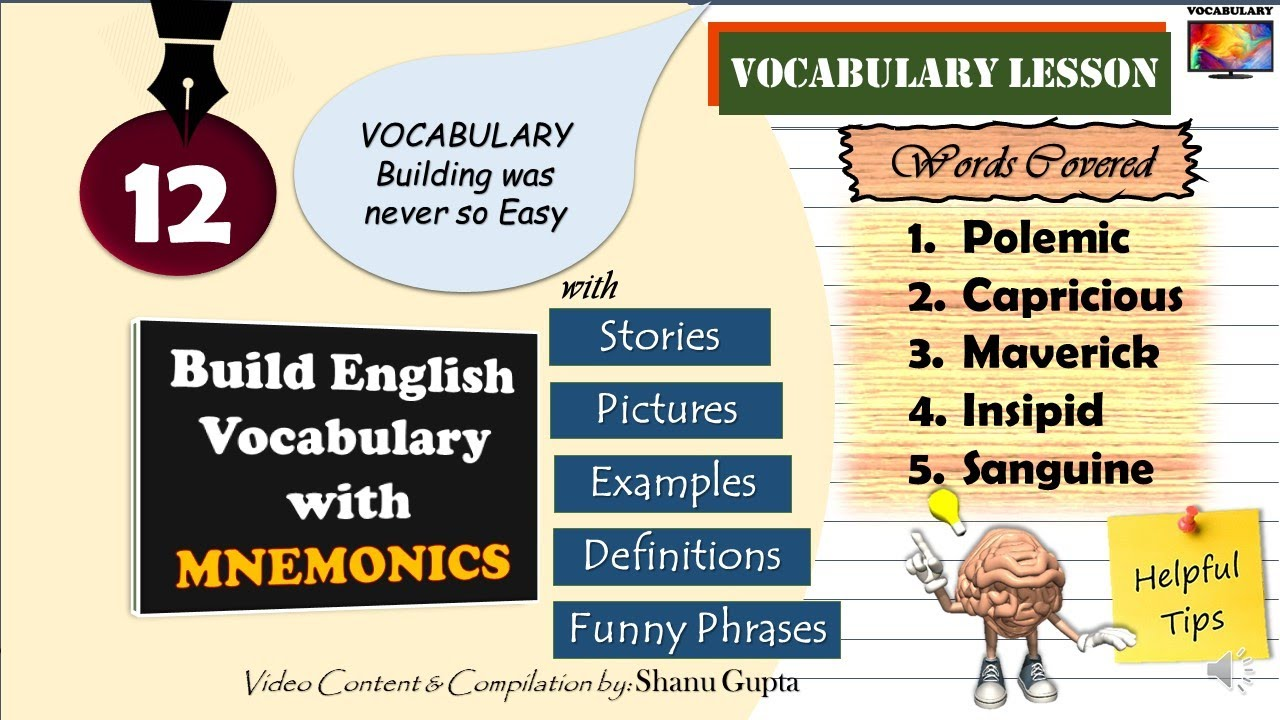 Build English Vocabulary with Pictures and Mnemonics (ML-12)