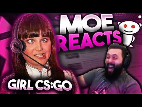Moe Reacts To Reddit(Female Csgo)