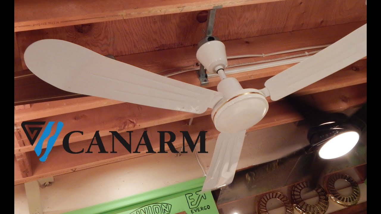 Canarm cp56 industrial ceiling fan 1080p hd remake youtube canarm cp56 industrial ceiling fan 1080p hd remake aloadofball Image collections