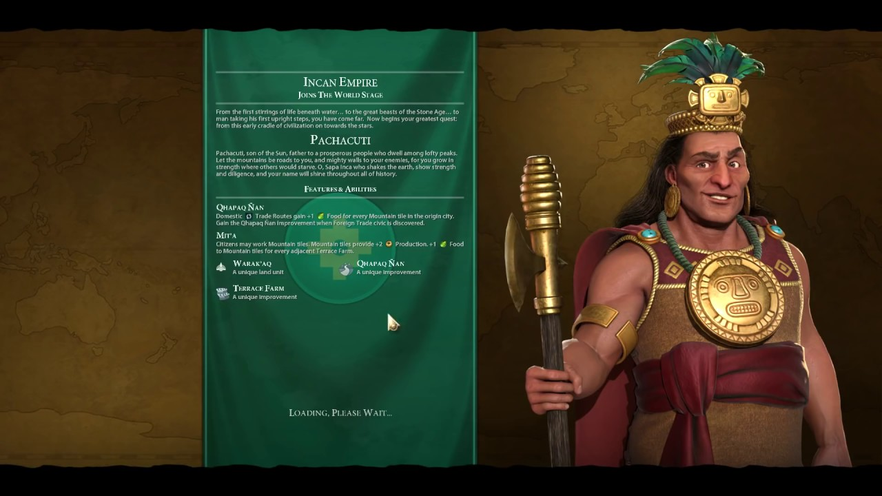 Civilization 6: Gathering Storm Online Multiplayer FFA Inca