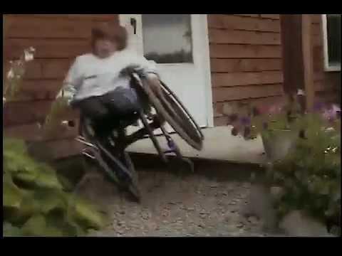 Kid falls from wheelchair  YouTube