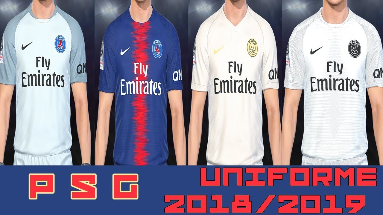 PES 2018 - UNIFORME PSG TEMP 2018 2019 - By  Lucas RK - YouTube 41ce31f688f6b