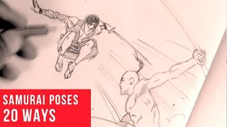 20 Ways Drawing Samurai Poses