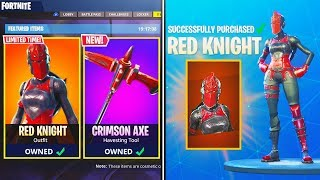RED KNIGHT Skin Returns to Fortnite! - How to Get Rarest RED KNIGHT Skin in Fortnite Battle Royale!