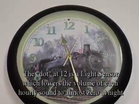 Steam Train Sounds In A Quartz Clock Youtube