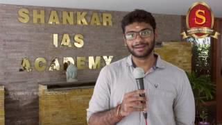 Viswanathan K S - UPSC CSE 2016 topper (AIR 71) from Shankar IAS Academy