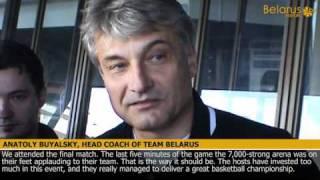 Belarus basketball team returns home from world championships