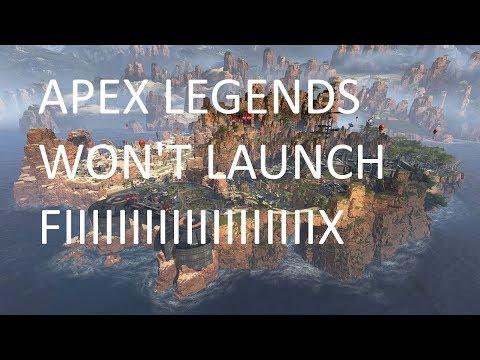 Apex legends won't launch [FIX]