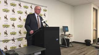 Wyoming coach Craig Bohl reviews Border War win, looks ahead to San Jose State
