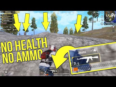 KILLING SQUADS WITH NO HEALTH AND NO AMMO | PUBG MOBILE WAR MODE FULL MATCH