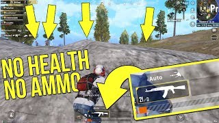 KILLING SQUADS WITH NO HEALTH AND NO AMMO PUBG MOBILE WAR MODE FULL MATCH