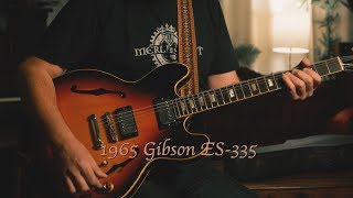 1965 Gibson ES-335 (converted from a trapeze to a stoptail)