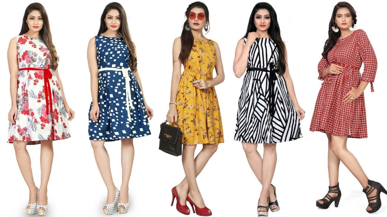 Beautiful Frock Design For Girls | Short Frock Style 2019 | Women's Summer Printed Frock Design