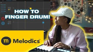 Learn how to finger drum with Melodics.