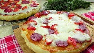 Улётная Пицца на Сковороде.  Пицца без духовки на дрожжевом тесте
