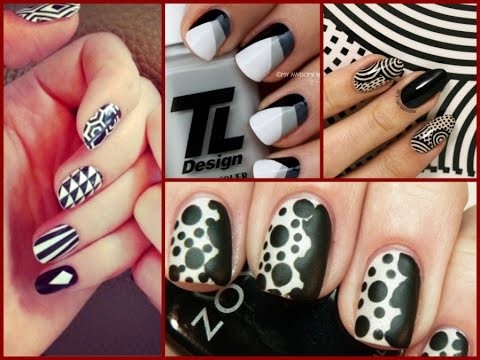Black And White Nail Art Designs 25 Easy Nail Art Ideas Youtube