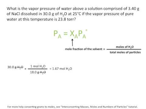 Raoults Law And Vapor Pressure- Chemistry Tutorial