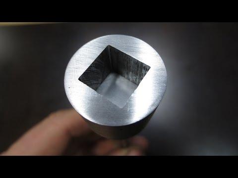 Как сделать внутренний квадрат в металле