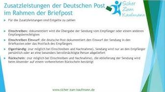 Zusatzleistung Briefpost