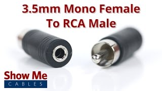 3.5mm Mono Female To RCA Male Adapter #958