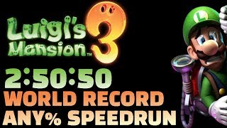 WORLD RECORD Luigi's Mansion 3 Any% Speedrun in 2:50:50