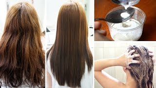 Straighten Your Hair Naturally With This Simple Recipe