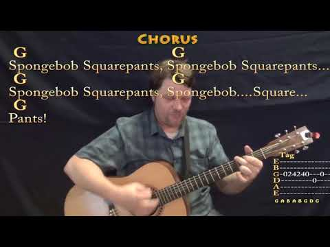 Spongebob Squarepants (TV Theme) Guitar Cover Lesson with Chords/Lyrics - Munson