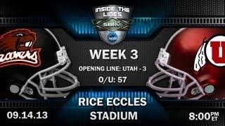 College Football Free Picks: Oregon St Beavers vs Utah Utes with Troy West and Peter Loshak