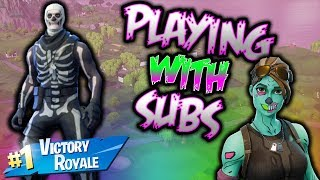 Fortnite Playing With Subs, New SMG Is Really Good!