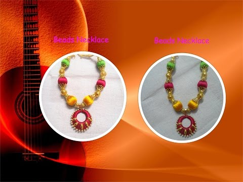 How to make Silk Thread Beads Necklace