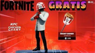 WIE DIE NEUE KOSTENLOSE KFC SKIN PACK bei Fortnite Battle Royale
