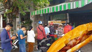 Điều gì khiến khách phải xếp hàng 30 phút để chờ mua được 1 ổ bánh mì vỉa hè