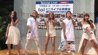 エルオーエルミニライブ、 perfect summerミニライブ初披露\(^^)/