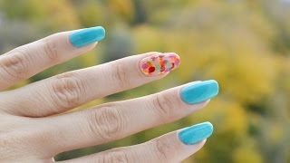 Маникюр осенний листопад - дизайн - Nail art autumn