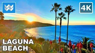 Download [4K] FIRST SUNRISE OF 2021 - Laguna Beach, California - New Year Walking Tour 🎧