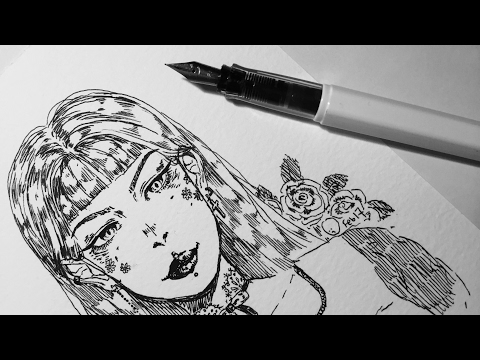 no sketch ink drawing challenge!!