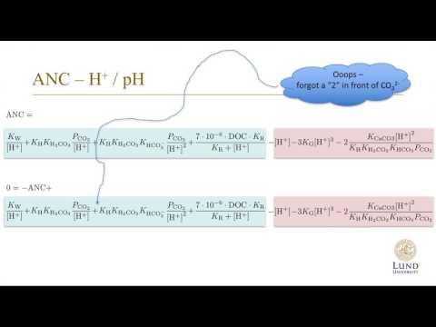 Water Chemistry 6: Calcium Carbonate Equilibrium