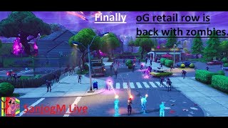 🔴 Live Fortnite Retail row is back with zombies (middle east server) 🔴 LET get some season X #10
