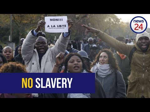 Paris police clash with protesters against slave trading in Libya