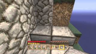 Minecraft deluxe island part 5 building the stair case