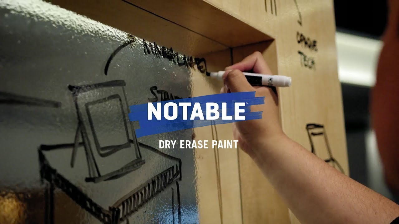 Turn A Wall Into A Whiteboard Surfaces Become Whiteboards With Notable Dry Erase Paint
