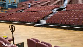 indoor telescopic seating system -- Denmark Falconer Music Hall