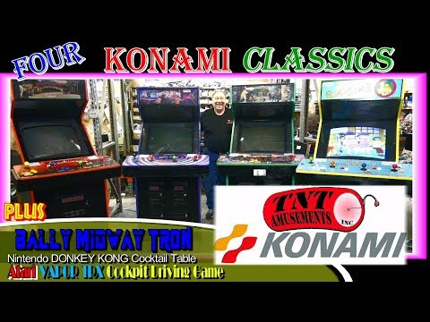 #1354 Konami TURTLES in TIME-THE SIMPSONS-SUNSET RIDERS 4 Player Arcade Video Games! TNT Amusements