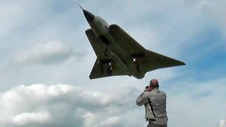 The Flame Spitting Saab Draken at Waddington Airshow.